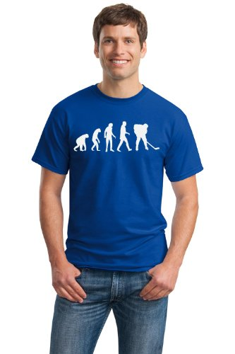EVOLUTION OF THE HOCKEY PLAYER Adult Unisex T-shirt / Funny Hockey Fan Tee