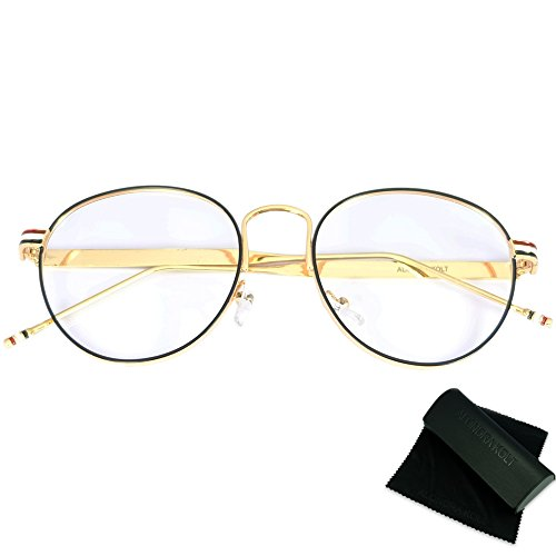 Alondra Kolt The Habitat Round Eye Glasses (Black / - 2018 Glasses Trends Mens