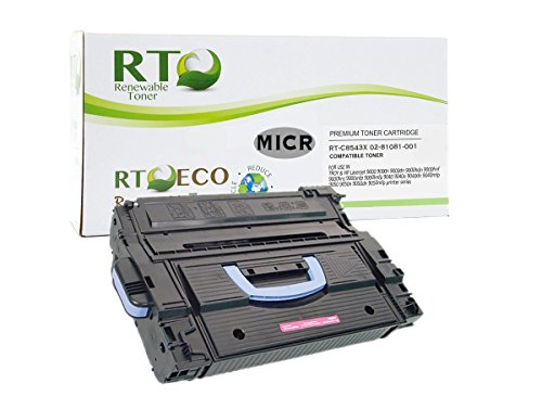 Renewable Toner Compatible MICR Toner Cartridge High Yield Replacement for HP 43X C8543X Troy 02-81081-001 for use in 9000 9040 9050