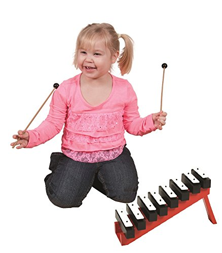 8-Note Resonator Bell and Ladder Set with Mallets (Age ()