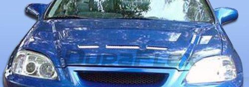 1996-1998 Honda Civic Duraflex Predator Hood - 1 Piece - Predator Fiberglass Hood