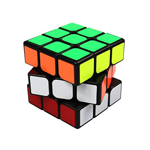 FC MXBB 3x3 PVC Stikcer Smooth Speed Puzzle Magic Cube Black -Twist Brain Teasers IQ Toys for kids (Halloween Brain Teaser)