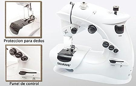 Maquina de coser mini portatil luz y pilas 7 puntadas 2 ...