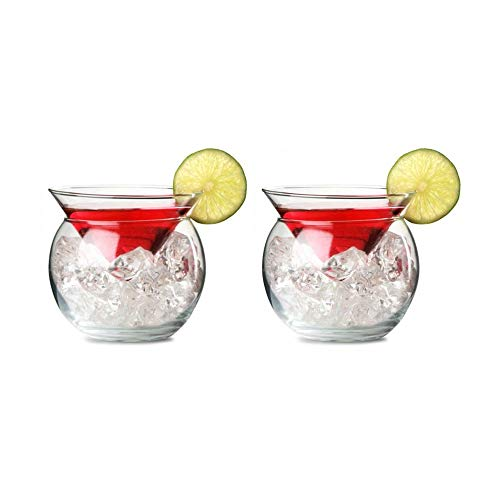 5.75 Ounce Glass - Libbey Martini Chiller 2 Piece Glass - 5.75 oz - Set of 2