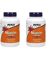 Now Foods Niacin, 500 mg, Tr 250 Tabs (Pack of 2)