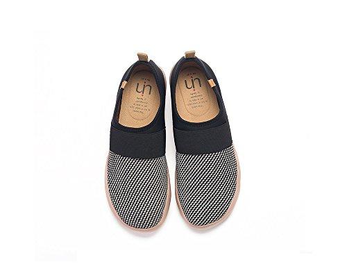 Uin Hombres Bejer Knit Zapatillas Moda Negro Y Blanco