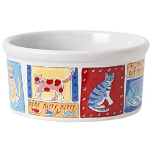 Signature Feed Me Dog/Cat 6-Inch Small Cat Bowl