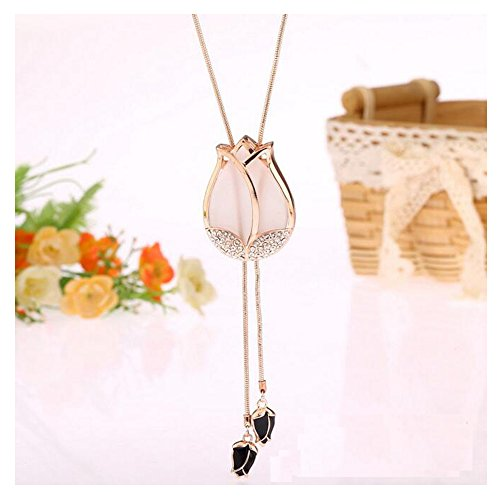 luck-wang-womans-unique-personality-opal-tulip-flower-necklacegold