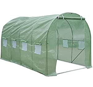 """Heavy Duty 15""""x7X7'grandes–Invernadero en túnel de casa verde jardín al aire libre"""