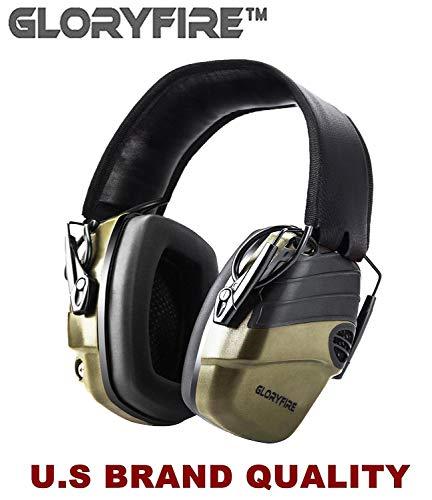 GLORYFIRE Electronic Shooting Earmuff Sound Amplification 6 Times Electric Earmuffs