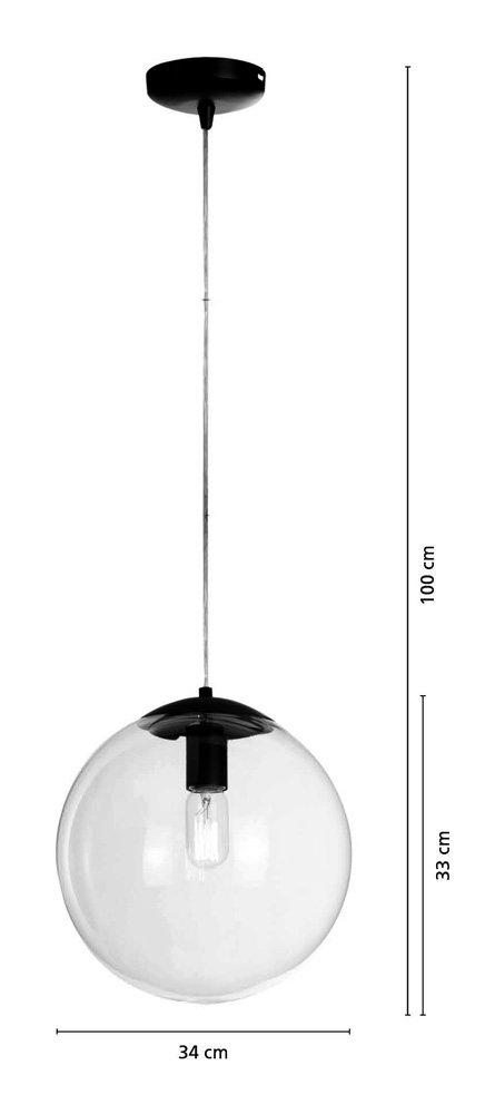 En Esférica De Cristal Transparente Lussiol Forma Bola Lámpara D2WEHIeY9