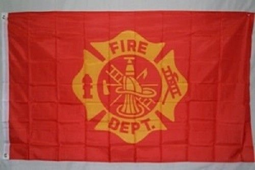 2X3 Fire Department Maltese Cross Super Polyester Nylon Flag 2X3 ft (60 X 90 CM) House Banner Grommets Double Stitched Fade Resistant Premium Quality