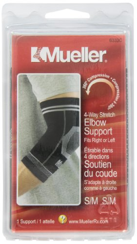 Mueller Antimicrobial Stretch Elbow Supports: Latex-Free with Gel Inserts (Mueller Elbow Support)