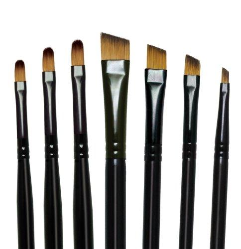 Majestic Royal and Langnickel Short Handle Paint Brush Set, Filbert and Angular, 7-Piece