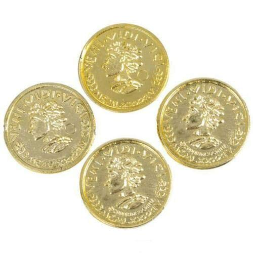 1152 Plastic Gold Coins Pirate Booty Plastic Play Money