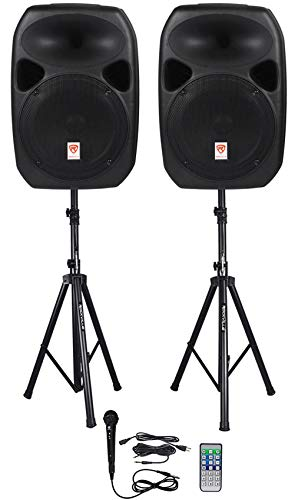 owered Speakers, Bluetooth+Mic+Speaker Stands+Cables (RPG122K) ()