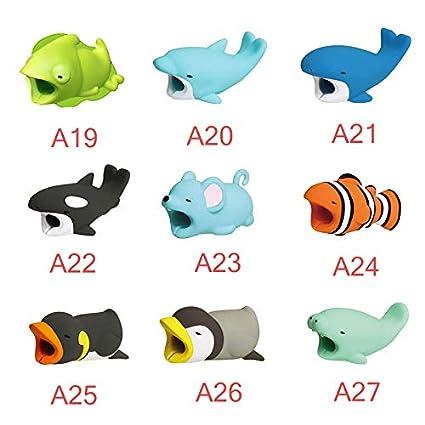 1.8 Gespout 1PCS Cable de Dibujos Animados Protector Animal l/ínea de Datos Protectora Enrollador Protector de Cable de Datos Anti-Rotura Size 4 ajolote 2cm
