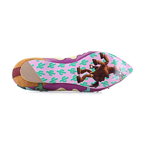 Irregular Choice Disney Toy Story Round up Gang Pink Yellow Flat Shoes Pink Yellow pg03O
