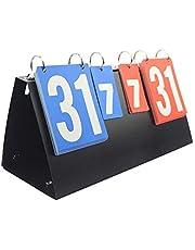 Singeru - Tabellone segnapunti da Badminton, Tennis, pallavolo, 4 Digitale e 2 cifre, Portatile, con segnapunti Sportivo