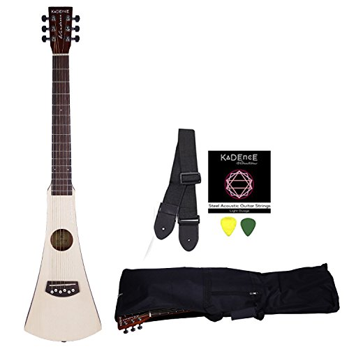 Kadence Wanderer Series Travel Guitar, Spruce Top Mahogany Body Combo with Strings, Strap, Bag and 3 Picks