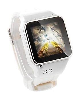 ranura para tarjeta sim barato elegante reloj tel¨¦fono inteligente con mp4 , white