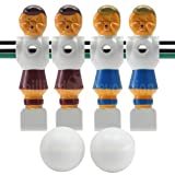 Billiard Evolution 4 Old Style Red and Blue Foosball Men and 2 Smooth Balls