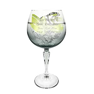 Ginsanity Personalised Speakeasy Platinum coloured Gin Cocktail Glass Grey Bowl - 585ml