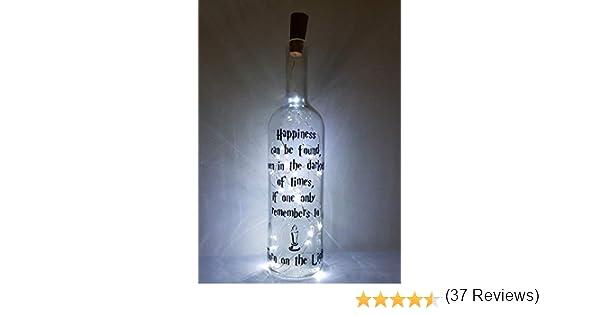 Mooseys Harry Potter Inspirado en la lámpara de Botella de Vino para Regalo de cumpleaños o San Valentín: Amazon.es: Hogar