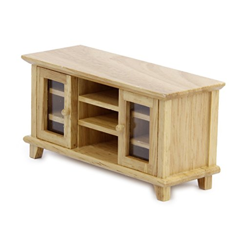 best NUOLUX 1:12 Doll House Miniature Furniture Wooden TV Cabinet