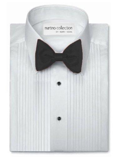 Henry Segal Men's Tuxedo Shirt 1/4 Inch Pleat Laydown Collar