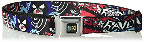 Buckle-Down Men's Seatbelt Belt Teen Titans Go Kids, Raven/Demon/Trigon Purple, 1.0