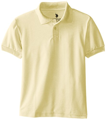 Yellow Uniform (U.S. Polo Assn. Little Boys' Polo Shirt (More Styles Available), Pique Yellow-FFAG, 5/6)