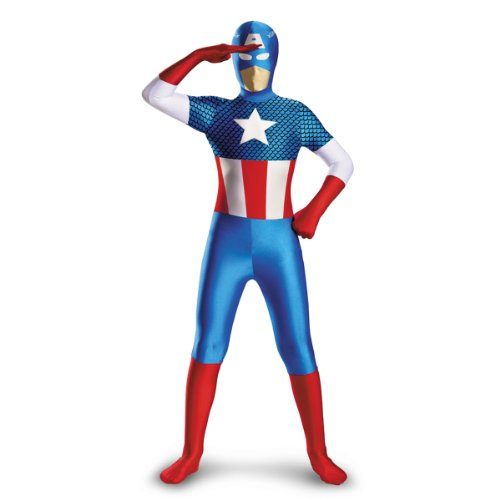 Captain America Deluxe Kids Costume, Large (Tween Captain America Costumes)