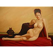 16X20 inch Naked Lady Figure Canvas Print Chinese Nude Girl