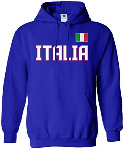 Threadrock Men's Italia National Pride Hoodie Sweatshirt