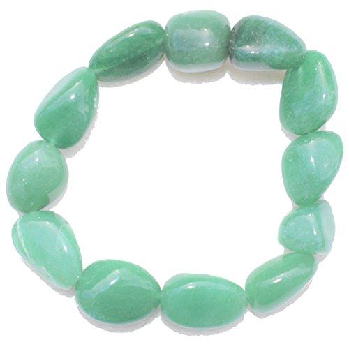 ZenergyGems™ CHARGED Green Aventurine Crystal Bracelet Tumble Polished Stretchy (GAIN CREATIVITY, COURAGE, INDEPENDENCE, PROSPERITY - BALANCES EMOTIONS) [REIKI] by ZENERGY GEMS
