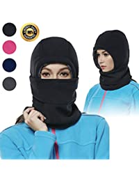 Balaclava Fleece Hood for Women Thick Ski Face Mask Hat for Cold Weather  Winter Warmer Windproof 25c16b4a9