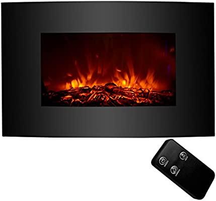 Amazon Com Kuppet 33 Electric Fireplace Wall Mount With Heater