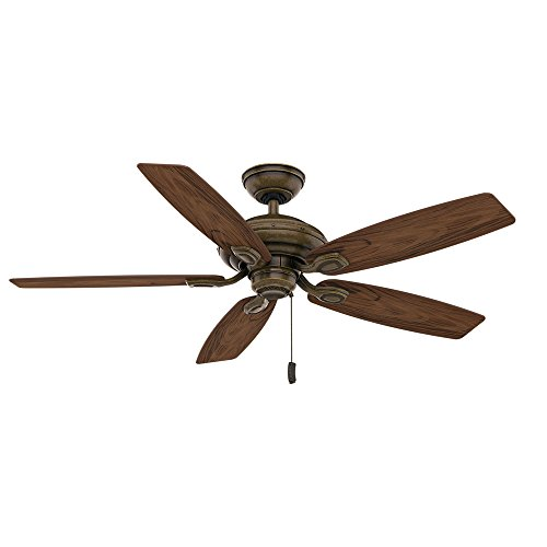 Casablanca Indoor / Outdoor Ceiling Fan, with pull chain control - Utopian 52 inch, Aged Bronze, 54036 (Aged Bronze Ceiling Fan)