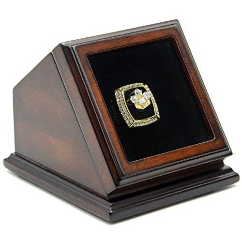 FANSRINGS Championship Ring Display Case Wooden Box Real Glass Window 1 Slot Hole Gift for Baseball Basketball Hockey Sports ()