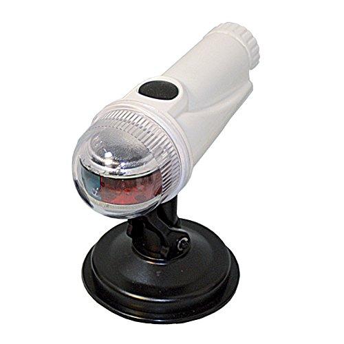 LED-Laterne Positionslampe für kleine Boote rot/grün mit Super-Saugfuß