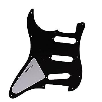 Golpeador Para Strat Guitarra SSS 3 Capas Negro - Pickguard Guitar