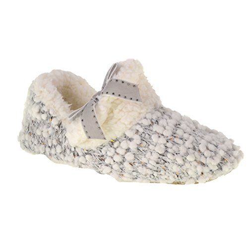 Chinese Laundry Elfie Slipper Popcorn Knit Short Bootie With Embellished Bow