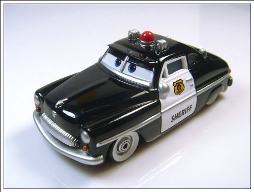 Sheriff Supercharged (Sheriff Disney Pixar Movie Cars Supercharged Background Card Edition 1:55 Scale Mattel by Toys)