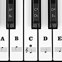 Piano Stickers For Keys 49/61/76/88 Keyboards Removable...