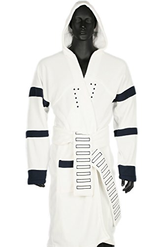 [Stormtrooper Bathrobe Hooded Cosplay Robe Costume for Adult Cotton L] (Storm Costume Cosplay)