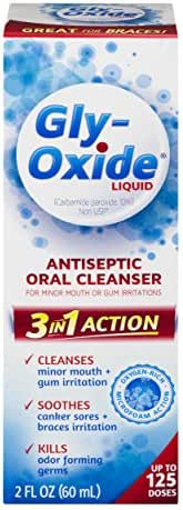 Gly-Oxide Liquid Antiseptic Oral Cleanser   Soothes Mouth Irritation   2 Fl Oz