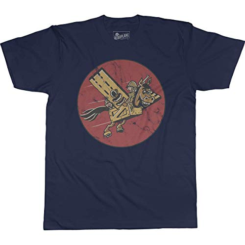11th Troop Carrier Squadron Aeroplane Apparel T-Shirt XLarge Navy