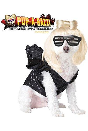 Pup-A-Razzi Pop Sensation Dog Costume, Medium, Black (Womens Disco Sensation Dress)