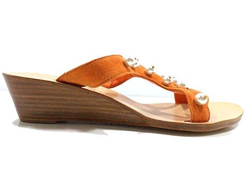 Zapatos Mujer EDDY DANIELE 37 Sandalias Naranja Gamuza AW488